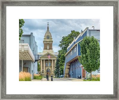 Pocket Courthouse Framed Print by MJ Olsen