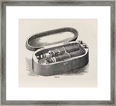 Pocket Telegraph Device Framed Print by King's College London