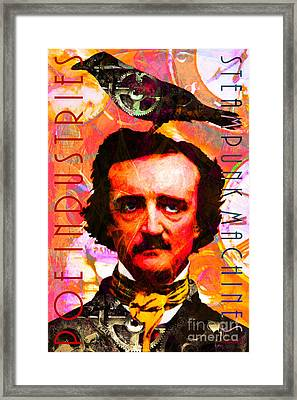 Poe Industries Steampunk Machines Patent Pending 20140518 Framed Print by Wingsdomain Art and Photography