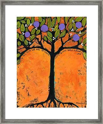 Poe Tree Art Framed Print by Blenda Studio