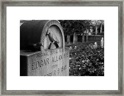 Poe's Original Grave Framed Print by Jennifer Ancker