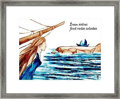 Poesia Amorosa En Catala - Diada De Sant Jordi Framed Print by Arte Venezia