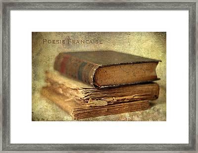 Poesie Francaise Framed Print by Jessica Jenney