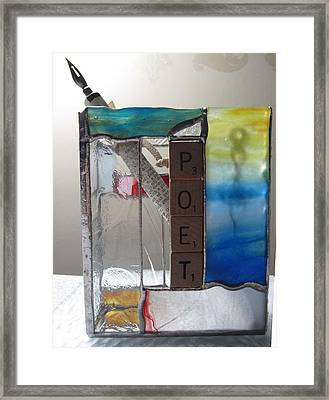 Poet Windowsill Box Framed Print by Karin Thue