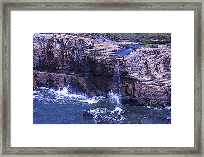 Point Arena Waterfall Framed Print by Garry Gay