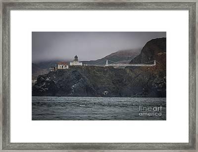 Point Bonita Light House Framed Print by Mitch Shindelbower