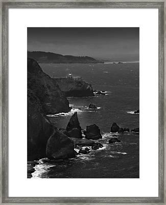 Point Bonita Light Framed Print by Mike McGlothlen