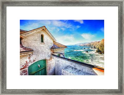 Point Bonita Lighthouse - Marin Headlands 4 Framed Print by The  Vault - Jennifer Rondinelli Reilly