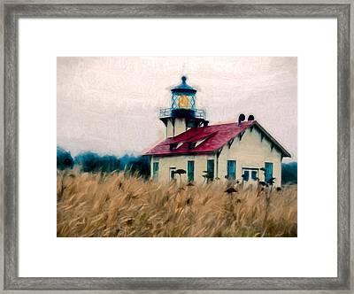 Point Cabrillo Lighthouse Framed Print by John K Woodruff