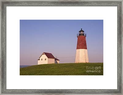 Point Judith Lighthouse Framed Print by Juli Scalzi