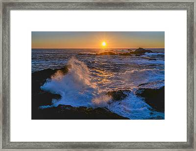 Point Lobos Sunset Framed Print by About Light  Images