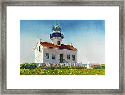 Point Loma Lighthouse Framed Print by Mary Helmreich