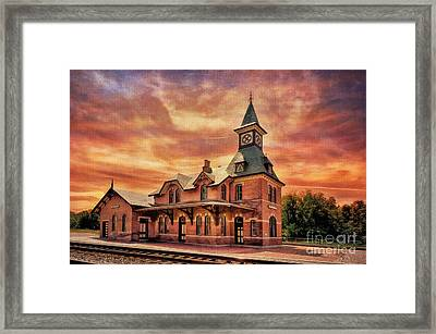 Point Of Rocks Train Station  Framed Print by Lois Bryan