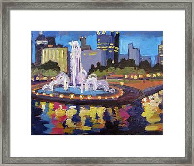 Point Park Fountain Framed Print by Tara Zalewsky