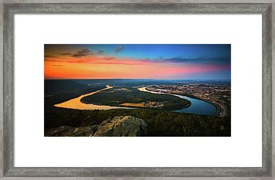 Point Park Overlook Framed Print by Steven Llorca