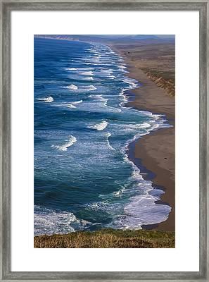 Point Reyes Long Beach Framed Print by Garry Gay