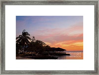 Point Village Sunset Framed Print by Michael Mattner