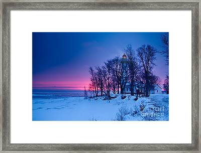 Pointe Aux Barques Lighthouse Framed Print by Todd Bielby