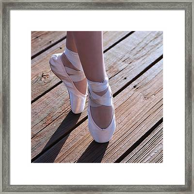 Pointe Shoes Framed Print by Laura Fasulo