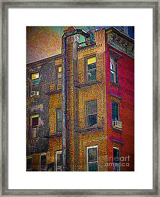 Pointillism In Steel And Brick Framed Print by Miriam Danar