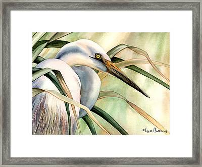 Poise Framed Print by Lyse Anthony