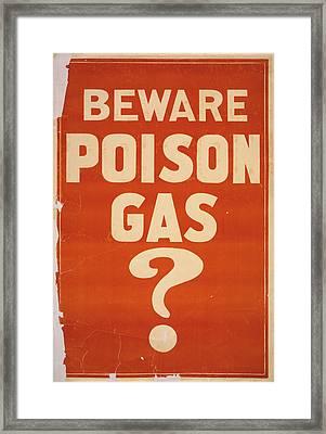 Poison Gas Poster, 1914 Framed Print by Granger