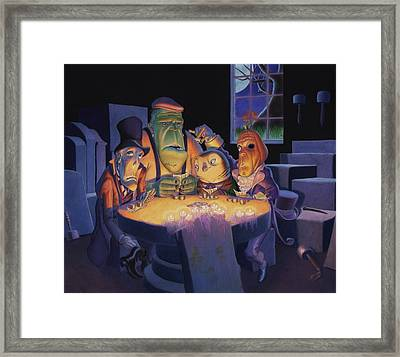 Poker Buddies Framed Print by Richard Moore