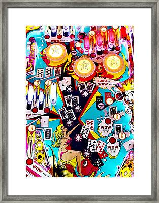 Poker Playfield Framed Print by Benjamin Yeager