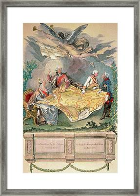 Poland  Xviii Century Allegory Framed Print by Prisma Archivo