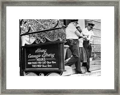 Police Carry Demonstrator Framed Print by Underwood Archives