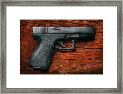 Police - Gun - The Modern Gun  Framed Print by Mike Savad
