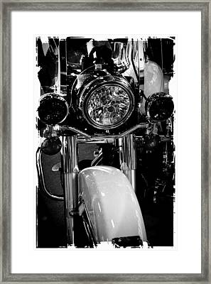 Police Harley II Framed Print by David Patterson