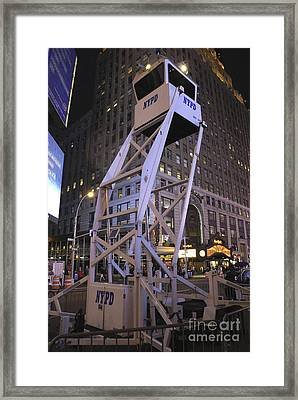 Police Observation Tower, Nyc Framed Print by Mark Williamson