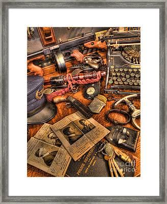 Police Officer - The Detective's Desk  Framed Print by Lee Dos Santos
