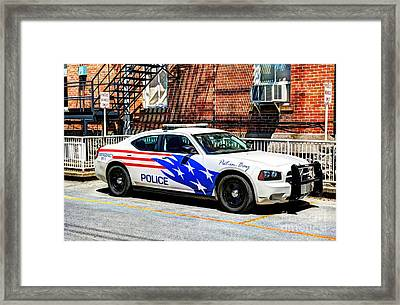 Police Vehicle Only Framed Print by Mel Steinhauer
