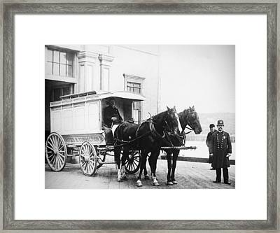Police Wagon, C1900 Framed Print by Granger