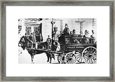 Police Wagon Framed Print by Granger