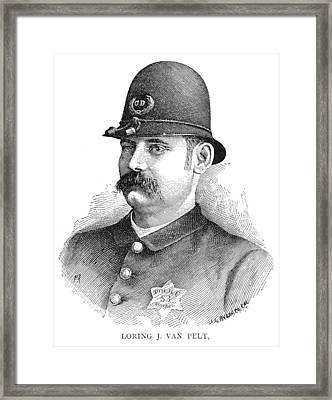 Policeman, 1887 Framed Print by Granger