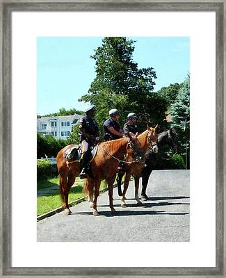 Policeman - Mounted Police Profile Framed Print by Susan Savad