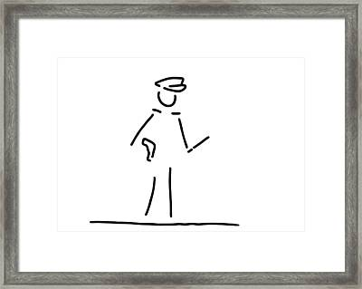 Policeman Uniformly Police Framed Print by Lineamentum