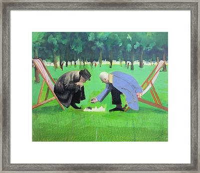 Polish Chess Players  Framed Print by Paul Powis