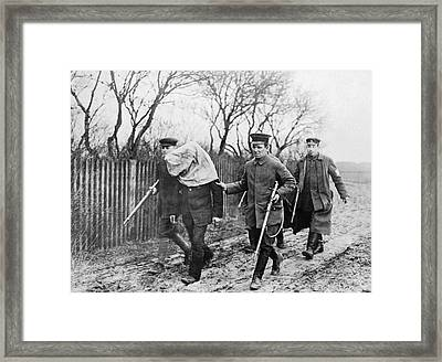Polish Man Arrested By Germans Framed Print by Underwood Archives