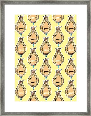 Polite Pattern Framed Print by Freshinkstain