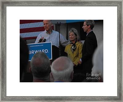 Politicians Sept 21 2012 Framed Print by Lisa Gifford