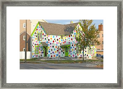 Polka Dot House Framed Print by Steve Augustin