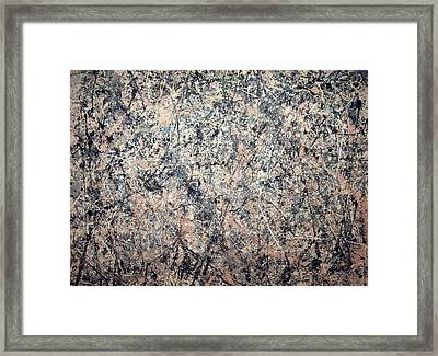 Pollock's Number 1 -- 1950 -- Lavender Mist Framed Print by Cora Wandel