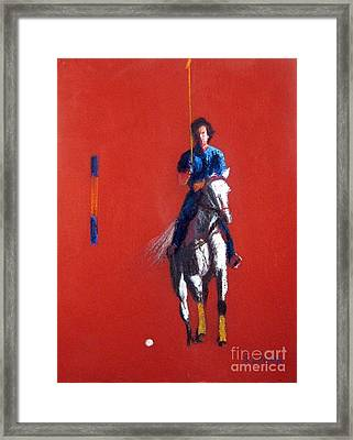 Polo Player Framed Print by Sandy Linden