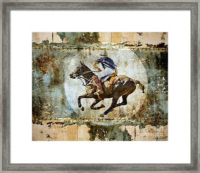 Polo Pursuit Framed Print by Judy Wood