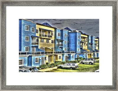 Polomar Apartments Framed Print by Gail Maloney