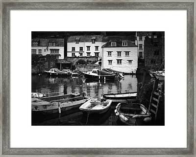 Polperro At Rest Framed Print by Steve and Jenni Thorp